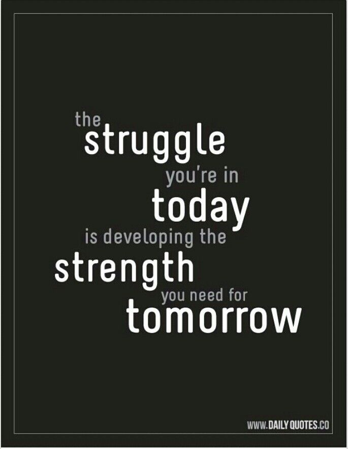 Overcoming struggles