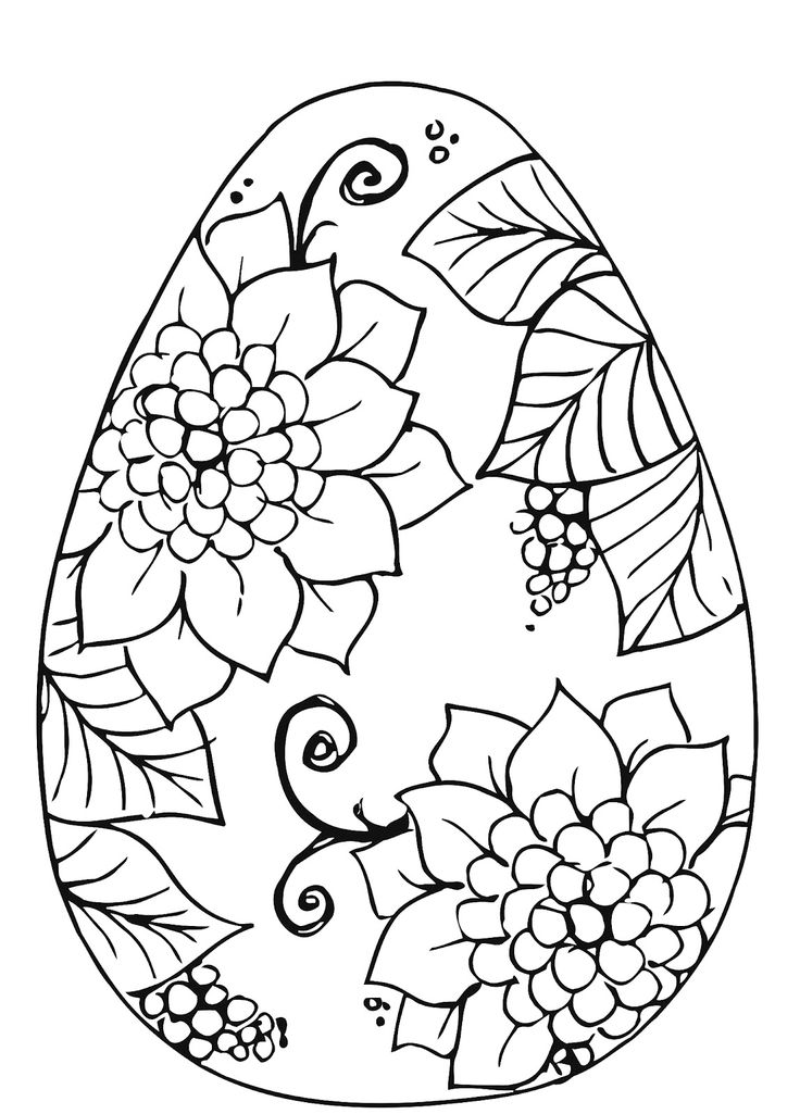 Easter Coloring Page By BDDesigns