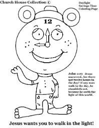 Church House Collection Has Daylight Savings Time Coloring Pages Free Clock For Kids To Color Grandfather