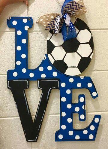 Love Soccer Door Hanger / wooden door hanger / Craft Night Out / Statesville NC