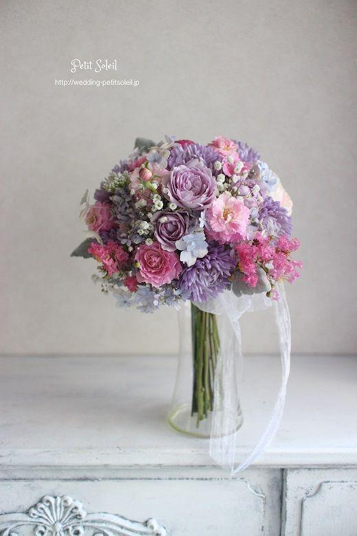ブーケ 紫ピンク bouquet purple pink