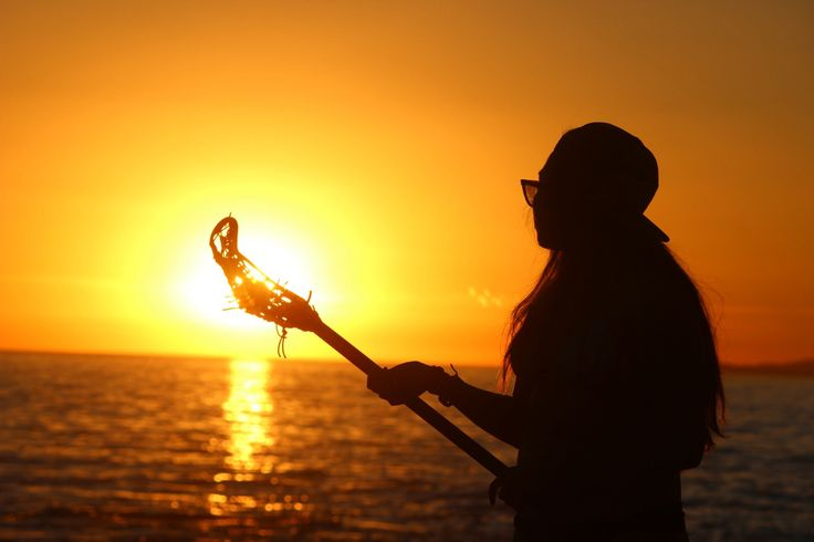 Lacrosse day at the beach, by Nicole Nelson. #lacrosse #beach #sunset