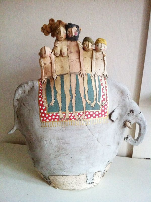 Emily Rowley: Chani Art, Dolls Art, Elephants Art, Elephants Pottery, Art Strange, Elephants Riding, Emily Rowley, Art Dolls, Clay Figures