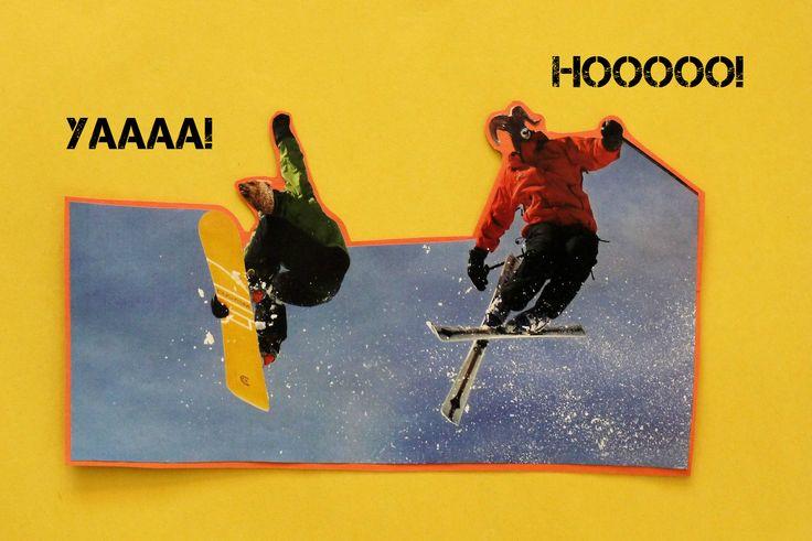 Ski or snowboard, winter rules!