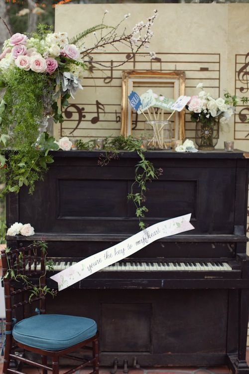 music themed wedding decorations amorology found vintage rentals theme california 6073