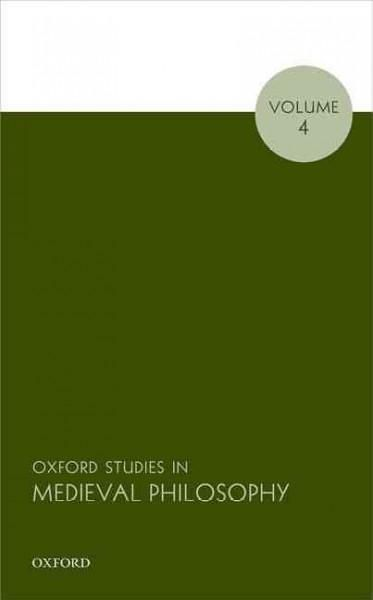 Oxford Studies in Medieval Philosophy