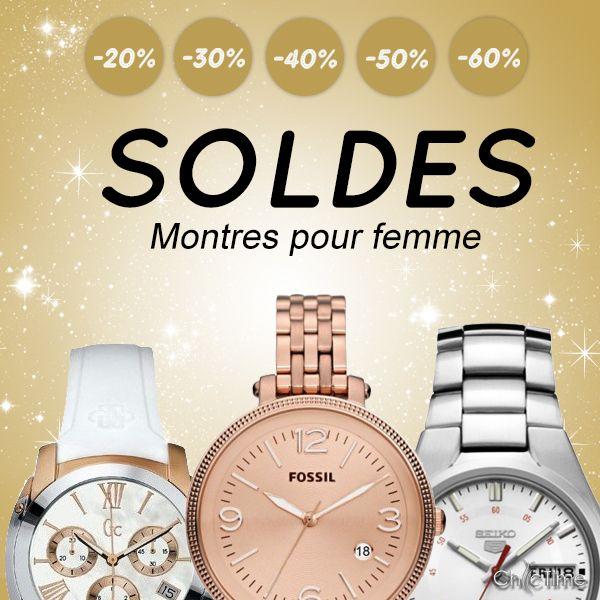 les montres pour femme des plus grandes marques sont sold es jusqu 39 60 sur chic time. Black Bedroom Furniture Sets. Home Design Ideas