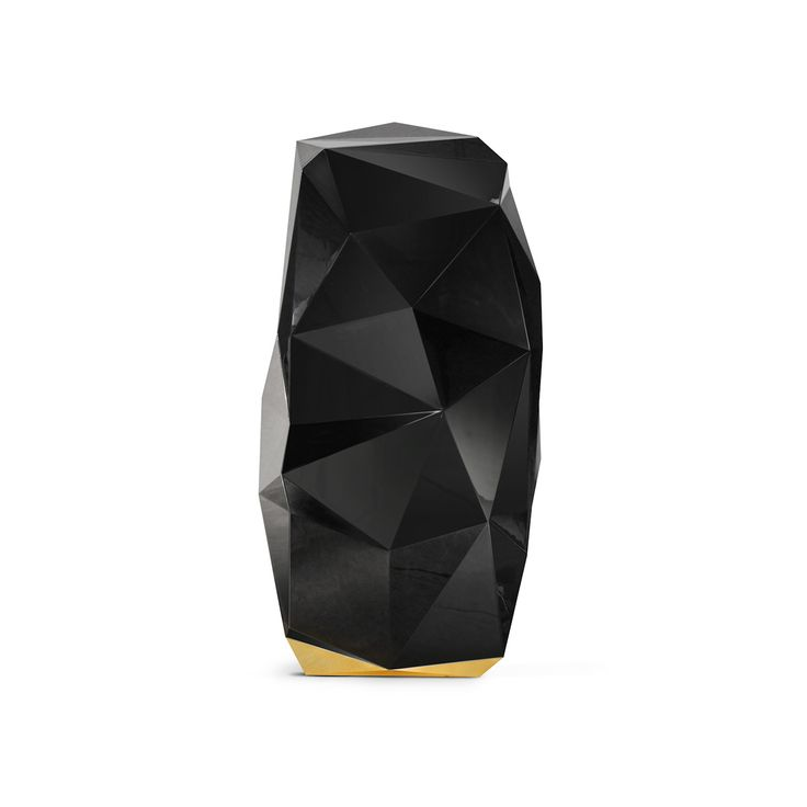 DIAMOND BLACK | LUXURY SAFE | What's a better place to keep your precious jewels and watches safe than inside a… well, jewel? Diamonds are appropriate in any occasion. They are perfect and Boca do Lobo Design Studio simply had to include a black diamond inspired safe box in its most exclusive collection so far – the Private Collection. Diamond is known as the hardest material on earth, so this safe box is the perfect place to keep your most precious goods – an impenetrable luxurious super…