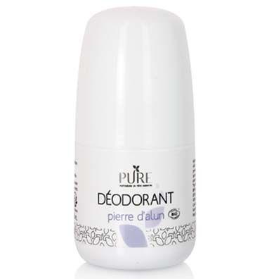 Ce déodorant bio à la pierre d'Alun limite naturellement la transpiration. La pierre d'Alun bio régule votre transpiration sans la bloquer, et empêche les mauvaises odeurs. Disponible en 50 ml.