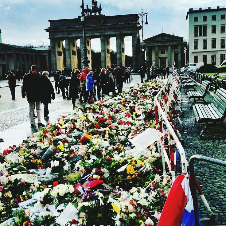 Das Blumenmeer vor der französischen Botschaft. Berlin French Embassy. Check This Out, Brandenburger Tor, Eyeen Best Shots by tclaus