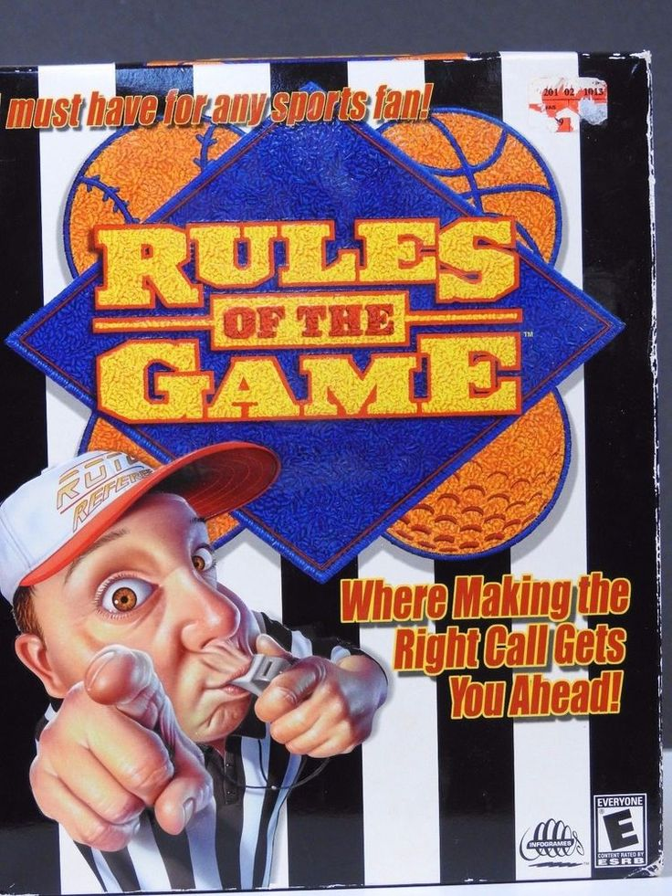 Rules of the Game 2001 (PC, 2001) - Retail Box - PC CDRom Game - Win 95/98 Ver #Infogames