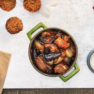 Falafelbarens friterade aubergine