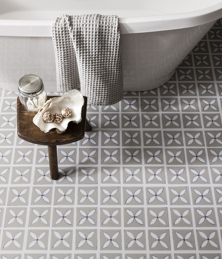 We Love The Pretty Floral Silhouette Print Of Our Dee Hardwick Vinyl Floor  Tiles! Perfect For Creating A Subtly Feminine Look In The Bathroom, ... Part 83