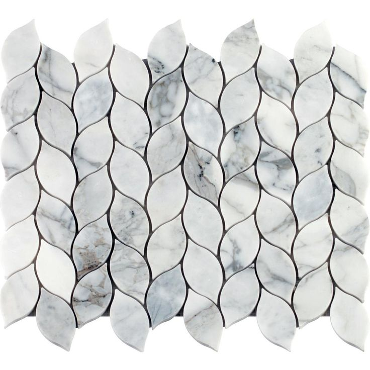 MS International Calacatta Blanco 12 in. x 13 in. x 10 mm Polished Marble Mesh-Mounted Mosaic Tile (10.80 sq. ft. / case), White