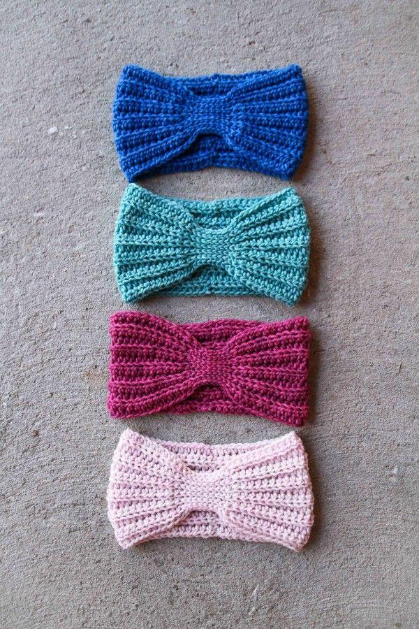 #Crochet head wrap free pattern from Mamachee