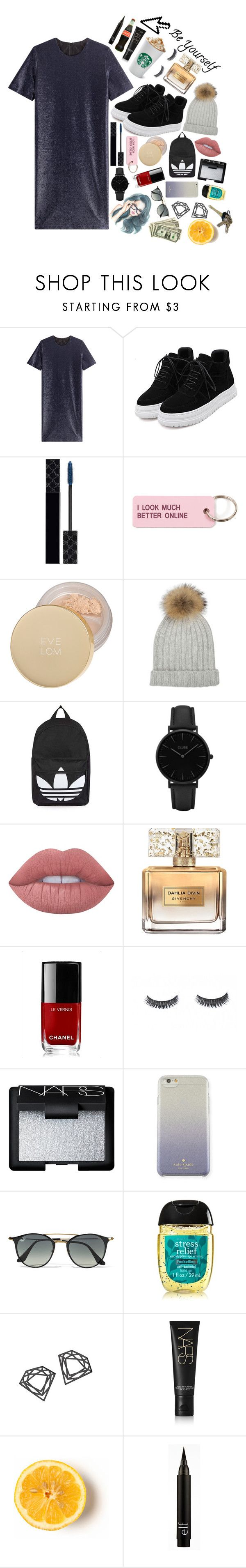 """Untitled #100"" by dancewithshira ❤ liked on Polyvore featuring Jil Sander, WithChic, Gucci, Various Projects, Eve Lom, Topshop, CLUSE, Lime Crime, Givenchy and Chanel"
