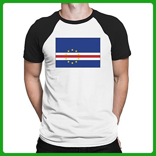 Teeburon Cape Verde Flag Raglan T-Shirt - Cities countries flags shirts (*Amazon Partner-Link)