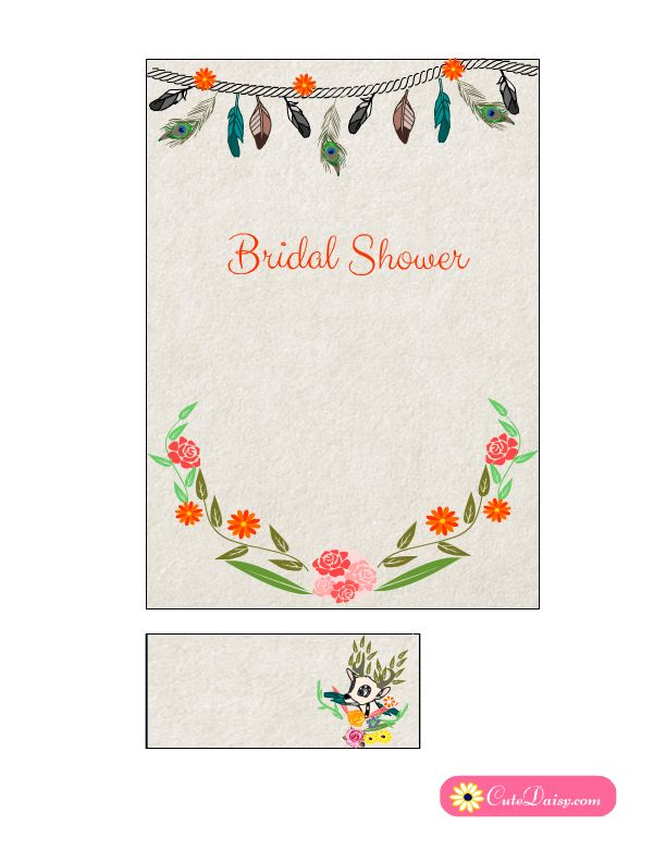 101 best Free Printable Bridal Shower Invitations { Templates - free bridal shower invitation templates printable