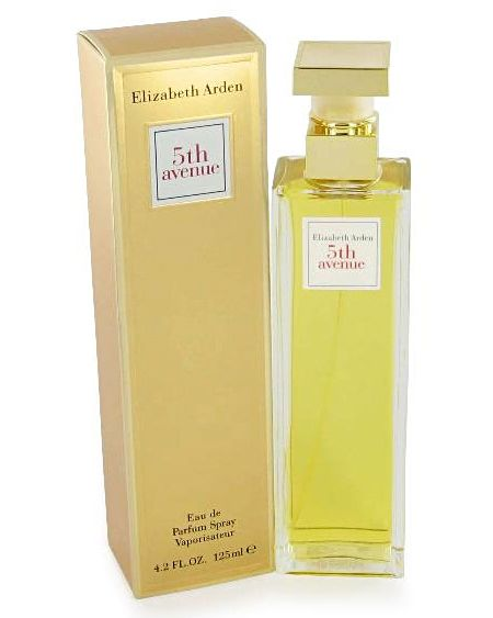 5th Avenue Elizabeth Arden perfume... The top notes are lilac, linden blossom, dewy magnolia, mandarin and bergamot. The heart notes are Bulgarian pink violet, ylang-ylang, jasmine, Indian tuberose, peach, carnation and nutmeg. The base is composed of amber, Tibetan musk, sandalwood, iris and vanilla.