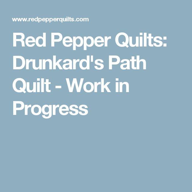 Red Pepper Quilts: Drunkard's Path Quilt - Work in Progress