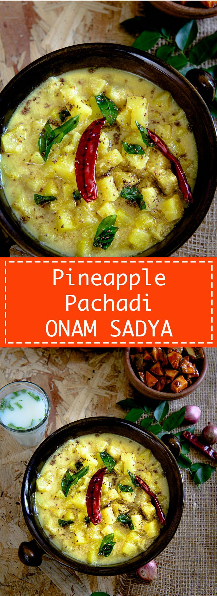 Pineapple Pachadi Kerala style Pineapple chutney to serve for Onam Sadya. Food photography and styling by Neha Mathur.