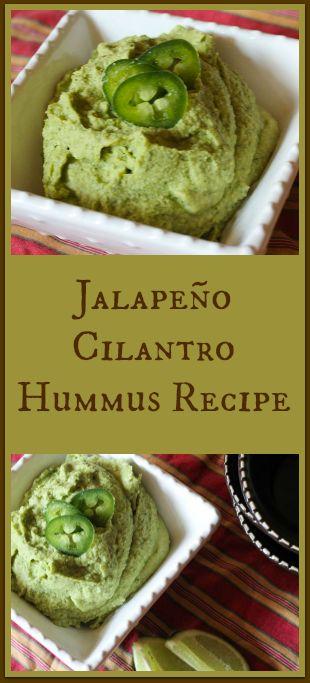 Jalapeño Cilantro Hummus Recipe
