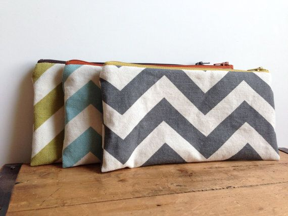 Hey, I found this really awesome Etsy listing at https://www.etsy.com/il-en/listing/167568406/gray-chevron-pencil-pouch-grey-yellow