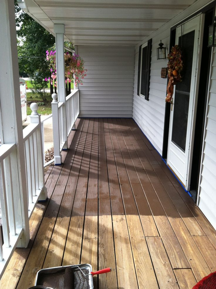 Behr Deck Over in Padre Brown.