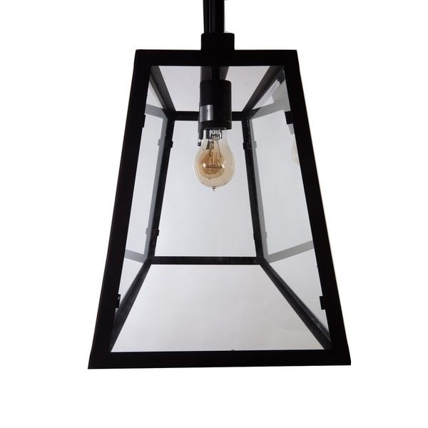 Hans Andersen Home Elon Black Steel/Glass Chandelier