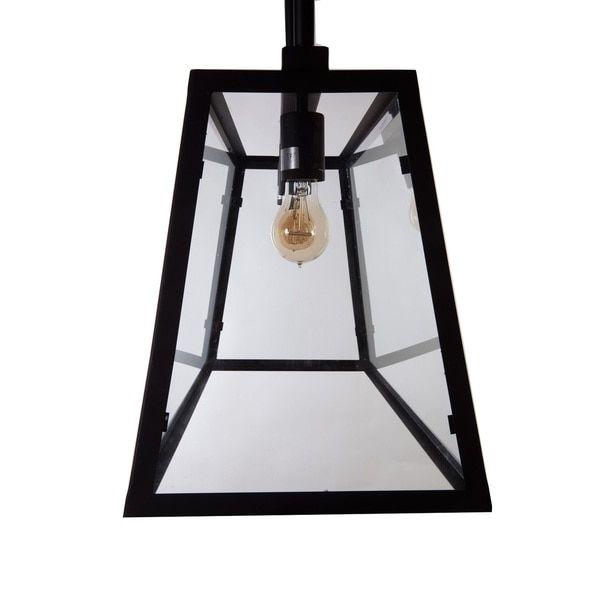 Hans Andersen Home Elon Black Steel/Glass Chandelier