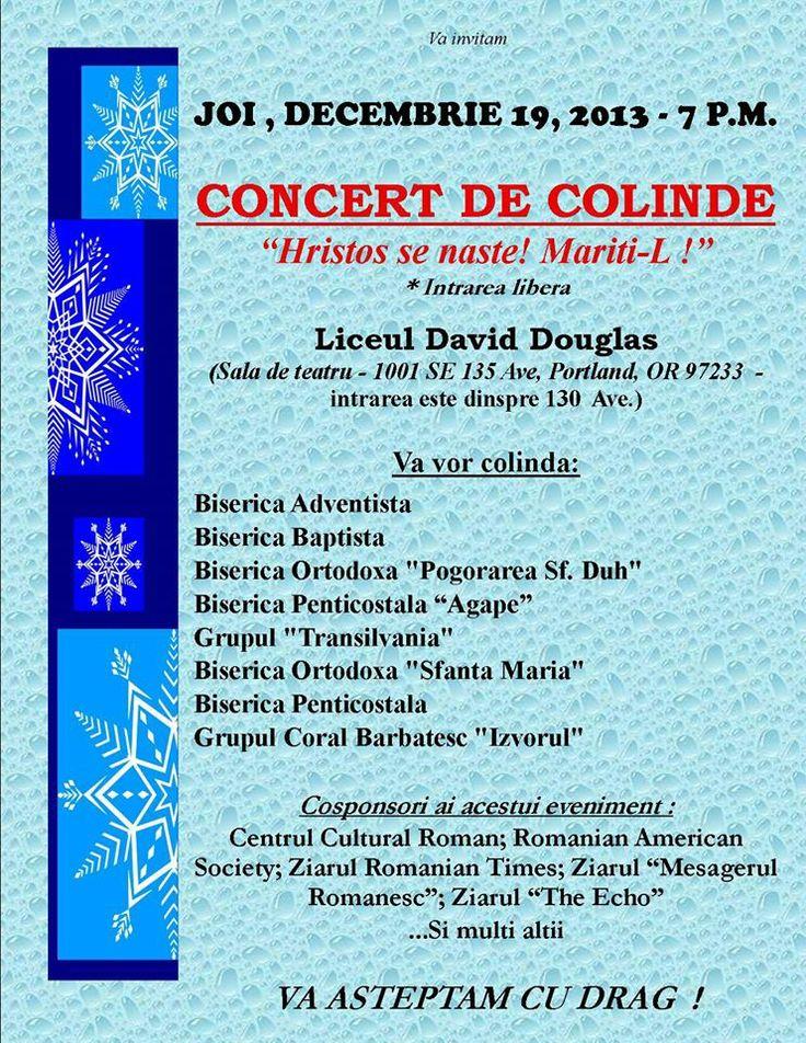 Romanian Christmas Concert, Portland, Oregon, USA  Concert de Colinde