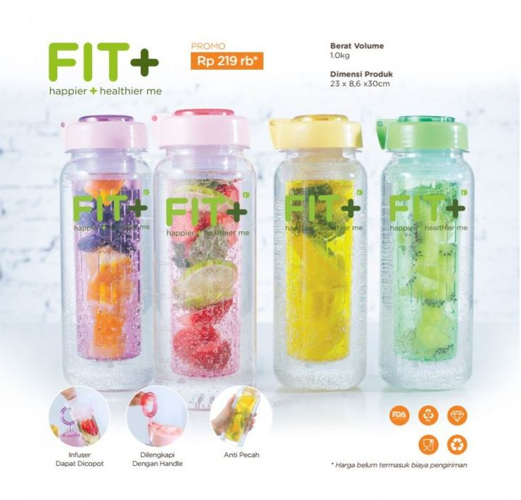 Fit+ Infused Bottle Family set - Happier and Healthier me