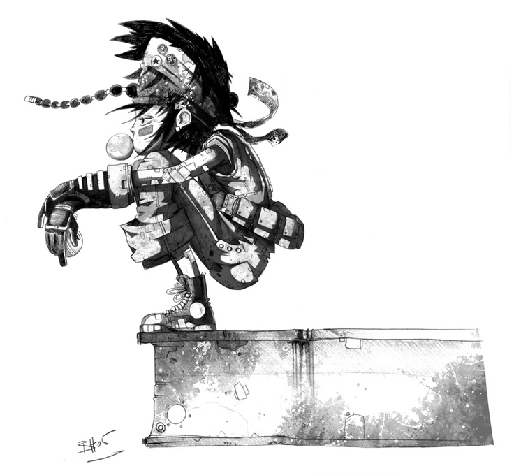 Codehunters / character by Ben Hibon  © Stateless Productions Ltd.