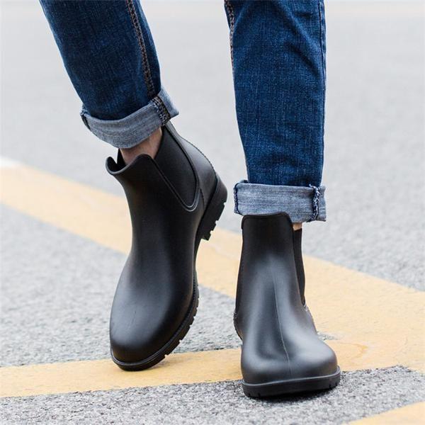 Mens rain boots, Ankle boots men, Boots men