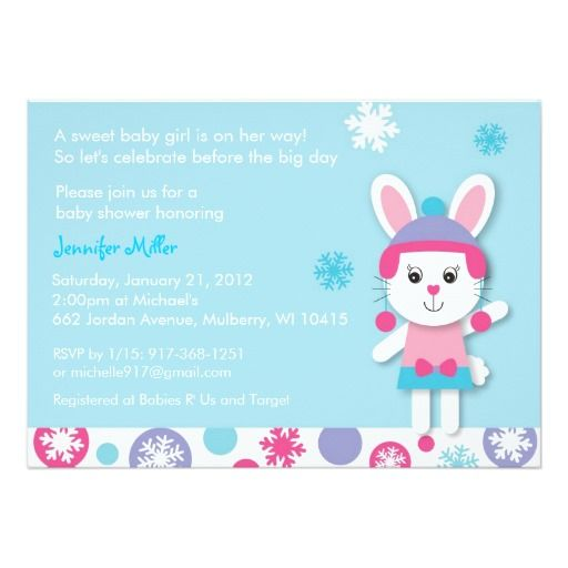 396 best images about bunny baby shower invitations on pinterest