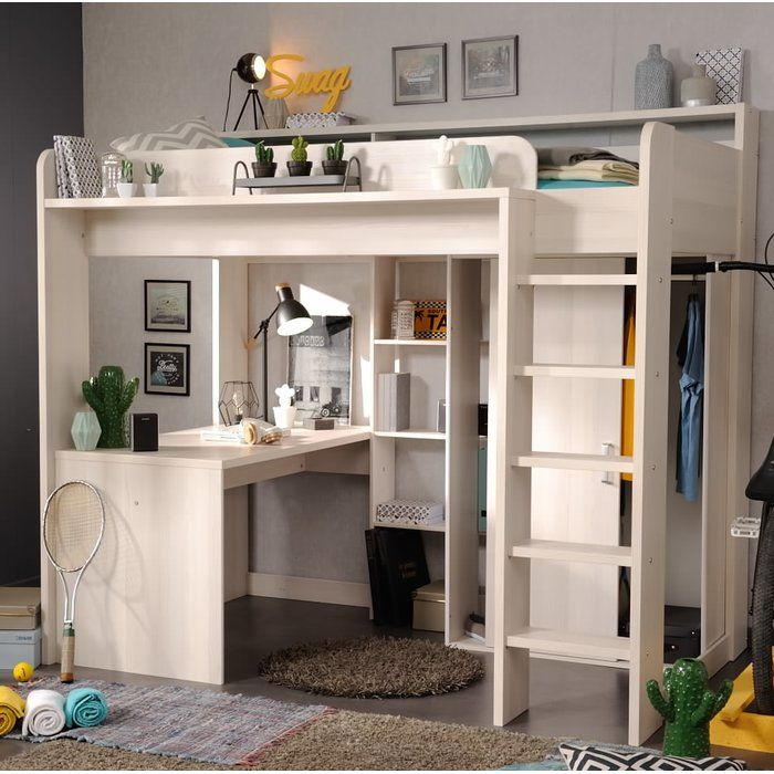 die besten 25 hochbett mit schrank ideen auf pinterest. Black Bedroom Furniture Sets. Home Design Ideas