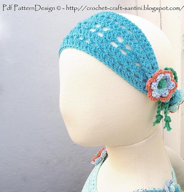 Ravelry: Summer Headband with Flowers. Chart! Crochet ...