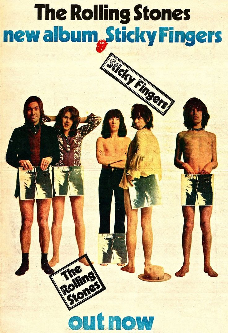 The Rolling Stones - Sticky Fingers, 1971.