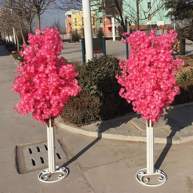 Online Shop New Arrival Cherry Blossoms Tree Road Leads Wedding Runner Aisle Column Shopping Malls Opened D In 2020 Door Decorations Cherry Blossom Tree Wedding Runner