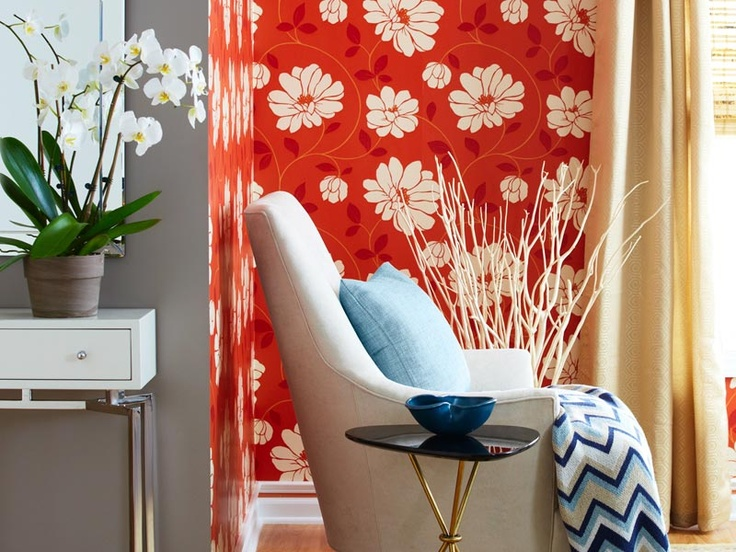 Loweu0027s Creative Ideas   Try Putting A Large Print Wallpaper Design In The  Corner Of A Part 82