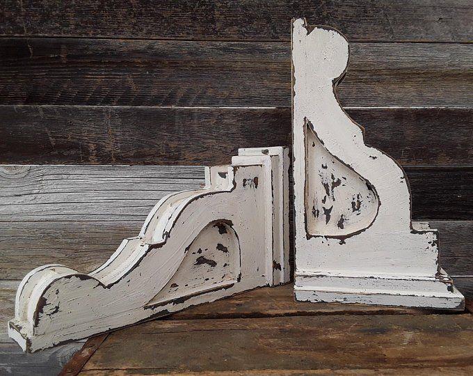 Wooden Corbels Sconces Distressed Corbels White Corbels Etsy Wooden Corbels Corbels Wall Sconces