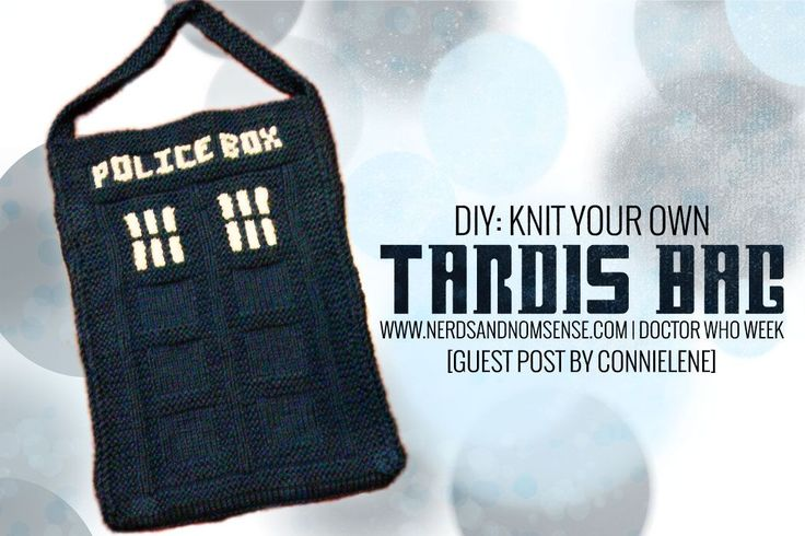 Knit a TARDIS bag. Use the pattern to knit Four's (Tom Baker) scarf between the Tardis ends. Knit 4 pieces as per the chart. Knit a bottom and top piece by casting on 50 stitches and knitting in garter stitch a piece that matches the width of the Tardis, add filling and lean back on your own Tardis pillow. Knit the chart in thinner or thicker yarns to vary the result. Knit 2 times, join along one long side – attach a ribbon tie to centre front right and you have created a journal cover.