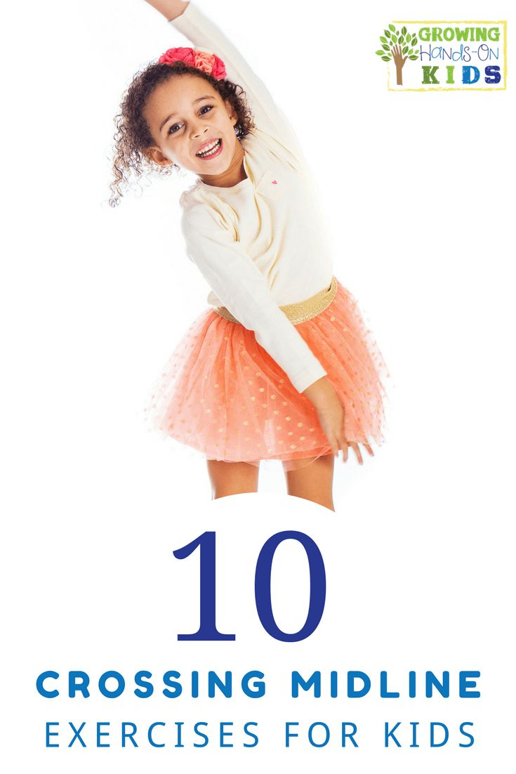 10 crossing midline exercises for kids. via @growhandsonkids