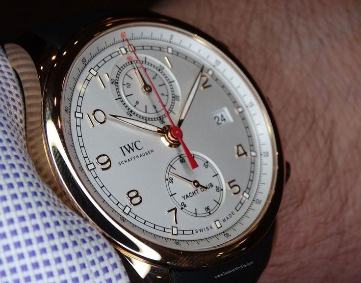 IWC Portugieser Yatch Club Chronograph oro en la muñeca perfil 1