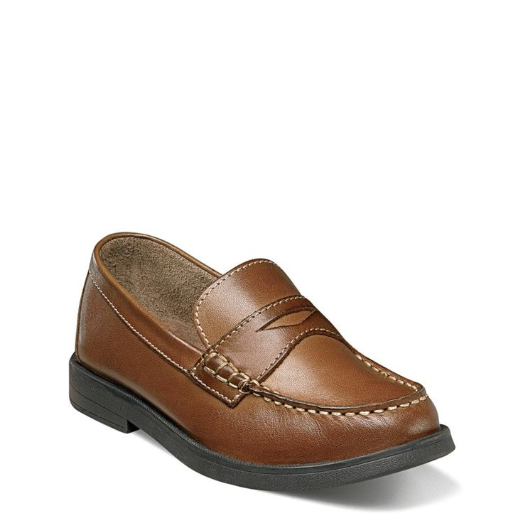Florsheim Kids' Croquet Penny Loafer Jr Pre/Grade School Shoes (Saddle Tan Leather)