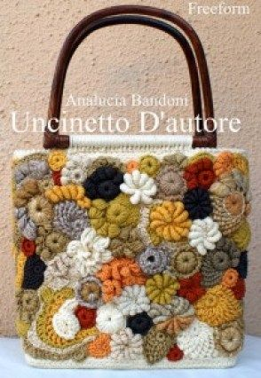 crocheted freeform purse