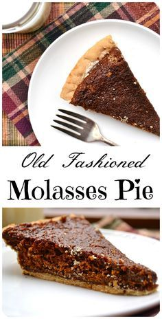 Old Fashioned Molasses Pie - a simple Amish/Mennonite PA Dutch pie   Similar to a shoofly pie   Chewy, sweet, unique - delicious   www.craftycookingmama.com
