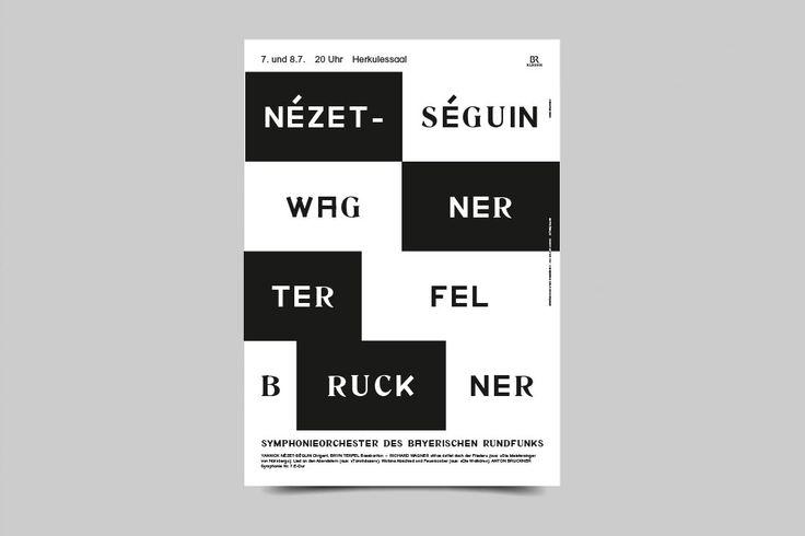 Bureau Mirko Borsche – Season Posters Symphonieorchester des Bayerischen Rundfunks