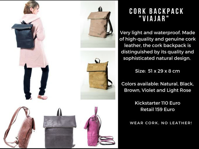 Corkando products are manufactured from high quality and genuine cork leather. Corkando cork bags and backpacks are handmade in Europe.