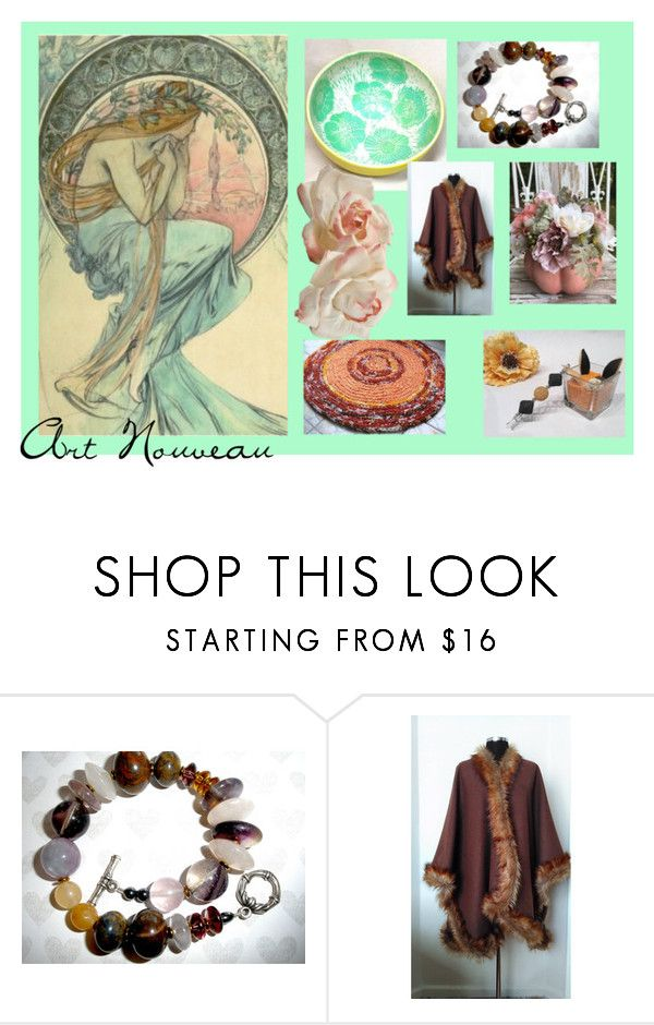 """""""Art Nouveau"""" by artbymarionette ❤ liked on Polyvore featuring vintage, handmade, EtsySpecialT and SpecialTweek"""